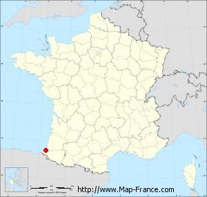 ROAD MAP BAYONNE maps of Bayonne 64100