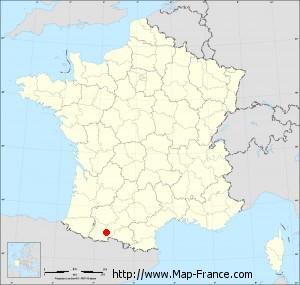 Small administrative base map of Izaourt