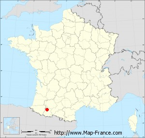 Small administrative base map of Sarrouilles