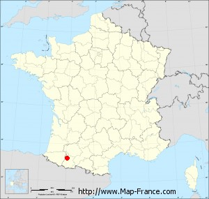 Small administrative base map of Tarbes
