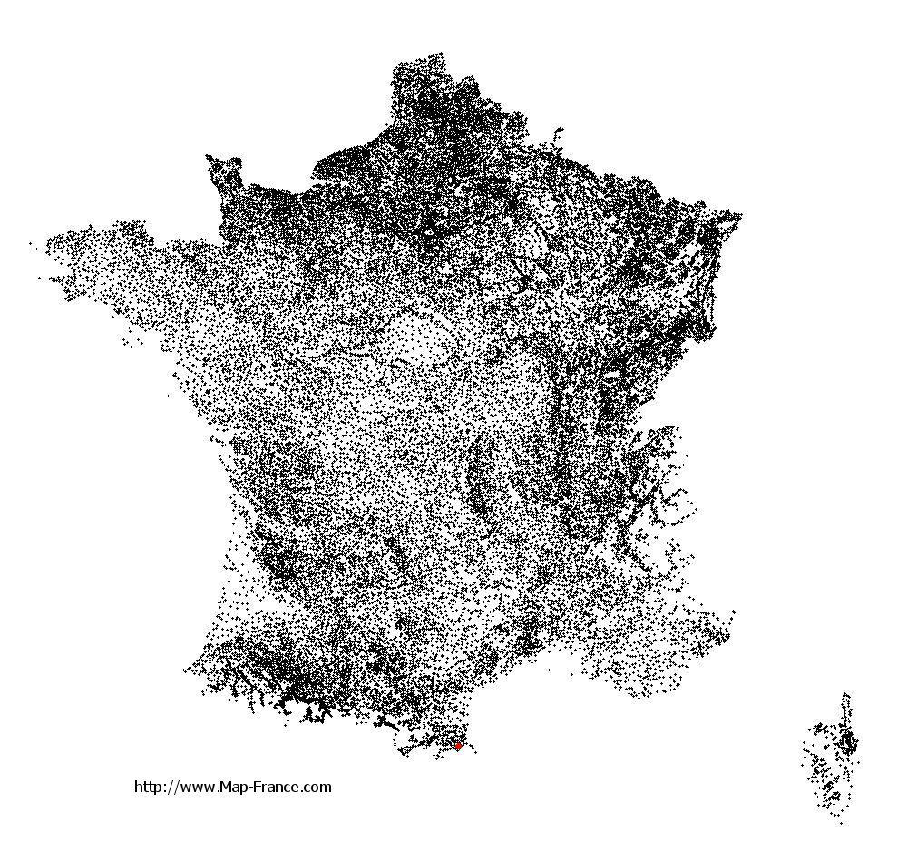 Montesquieu-des-Albères on the municipalities map of France
