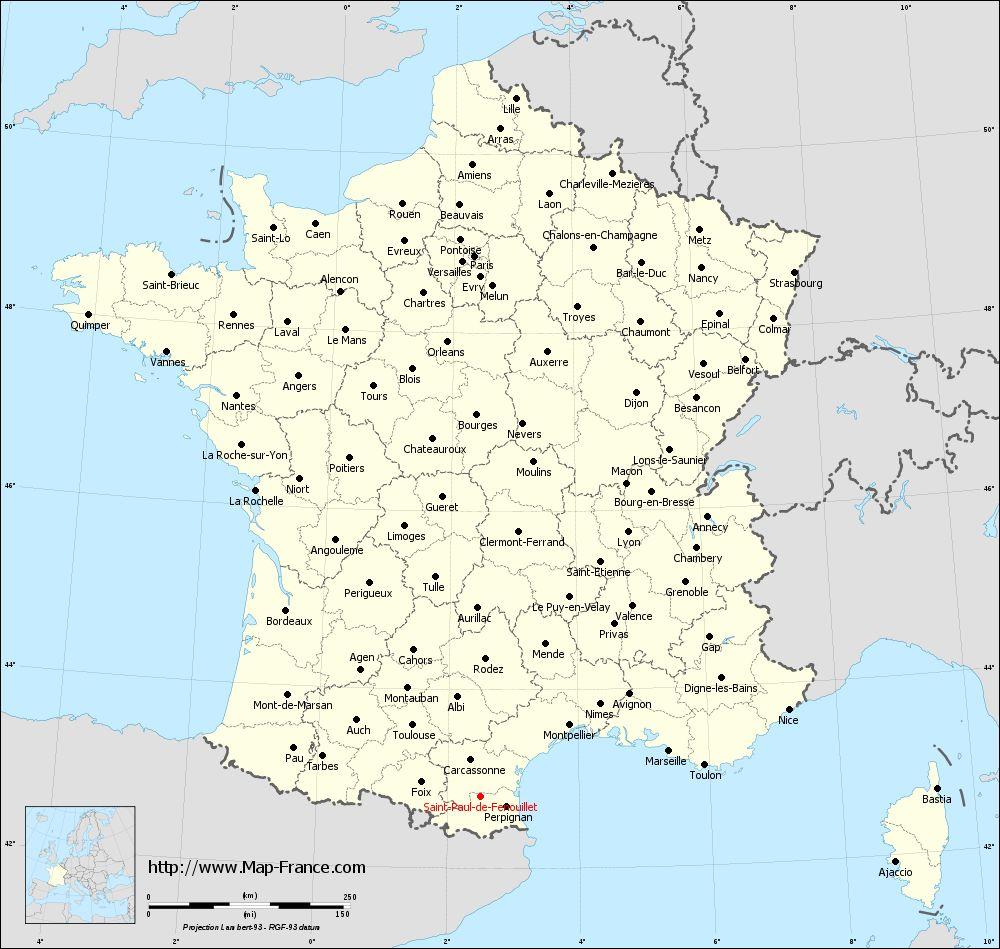 Administrative map of Saint-Paul-de-Fenouillet