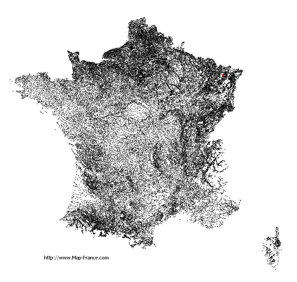 Kirrberg on the municipalities map of France