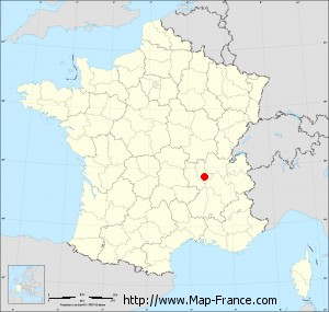 Small administrative base map of Brignais