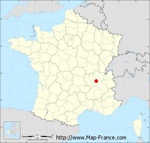 Small administrative base map of Saint-Laurent-de-Mure
