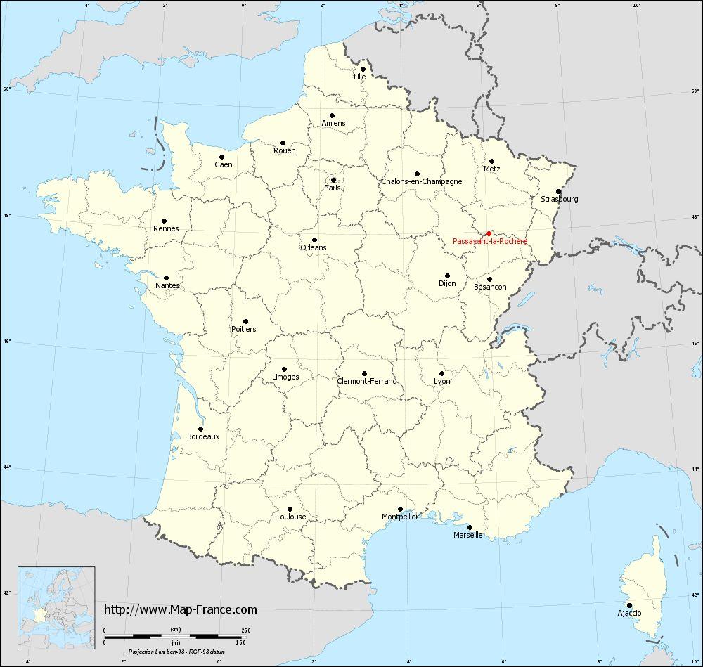 Carte administrative of Passavant-la-Rochère