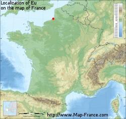EU  Map of Eu 76260 France