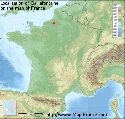 Gaillefontaine on the map of France