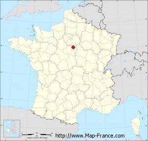Small administrative base map of Château-Landon