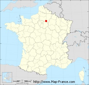 Small administrative base map of Crouy-sur-Ourcq