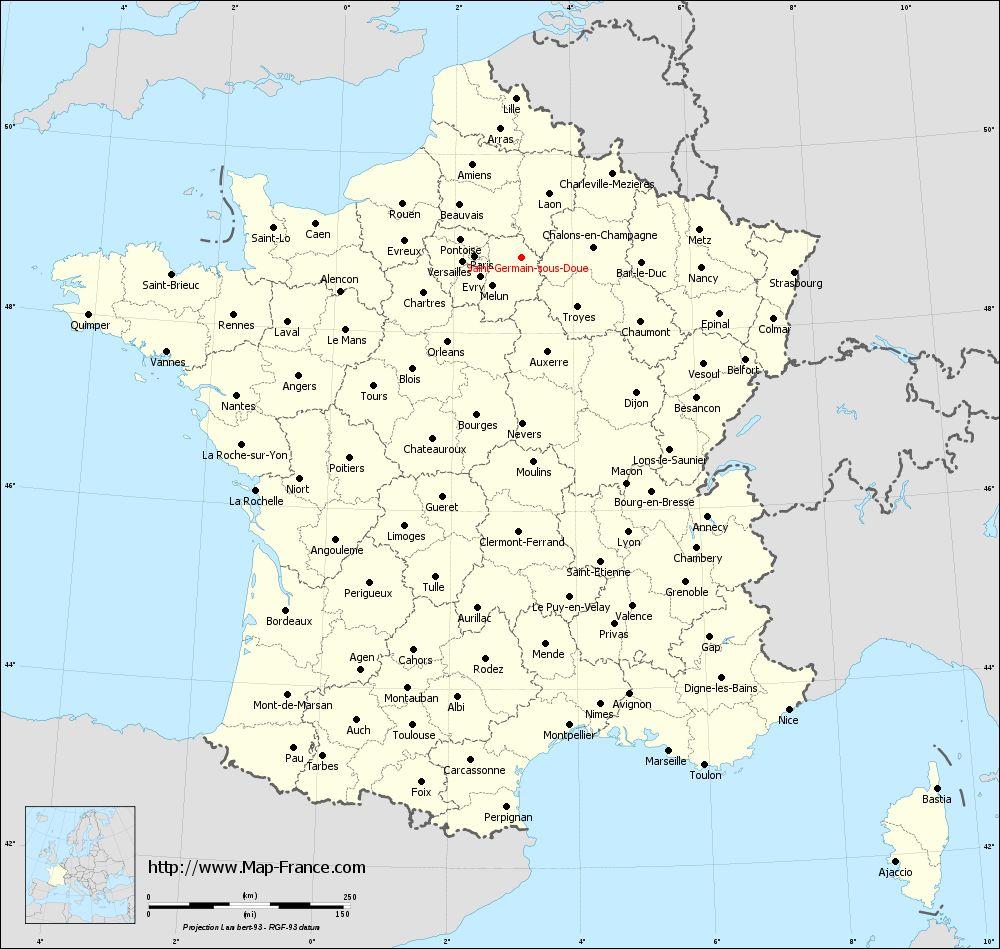 Administrative map of Saint-Germain-sous-Doue
