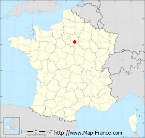 Small administrative base map of Villeneuve-les-Bordes