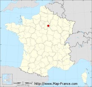 Small administrative base map of Vulaines-lès-Provins