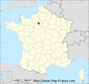 Small administrative base map of Bourdonné
