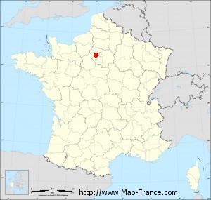 Small administrative base map of Montigny-le-Bretonneux