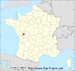 Small administrative base map of Saint-Lin