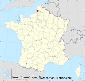 Small administrative base map of Regnière-Écluse