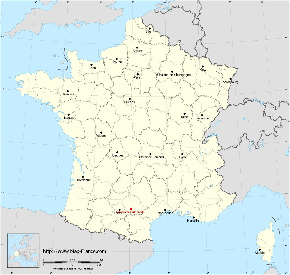 Carte administrative of Guitalens-L'Albarède