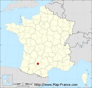 Small administrative base map of Léojac