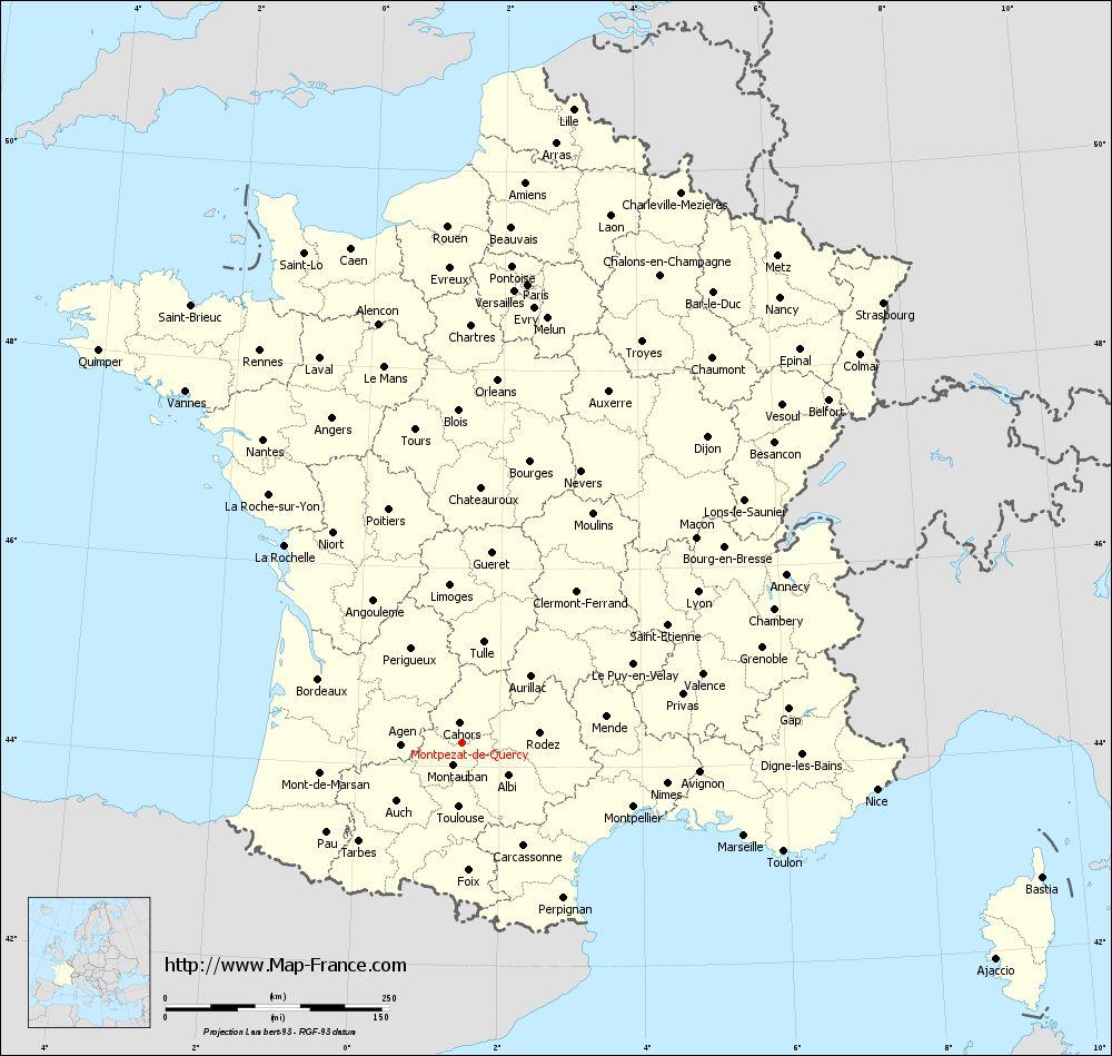 Administrative map of Montpezat-de-Quercy