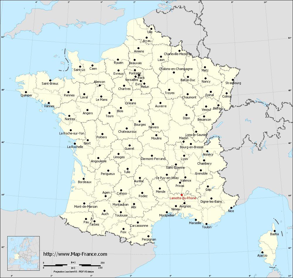 Administrative map of Lamotte-du-Rhône