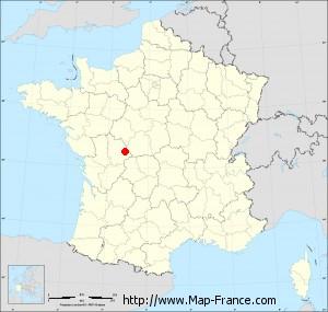 Small administrative base map of Antigny