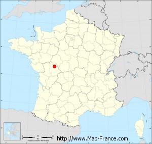 Small administrative base map of Naintré