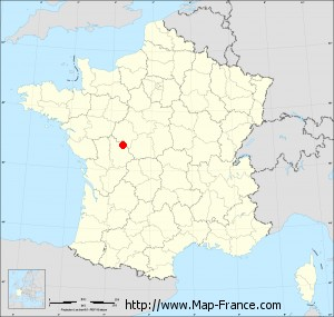 Small administrative base map of Saint-Sauveur
