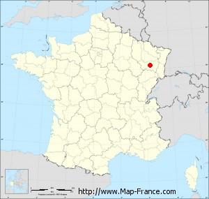 Small administrative base map of Épinal