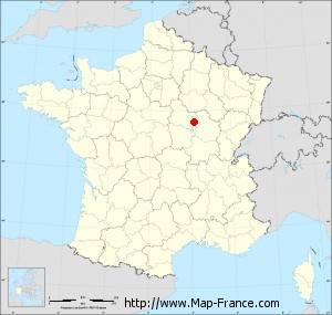 Small administrative base map of Bierry-les-Belles-Fontaines