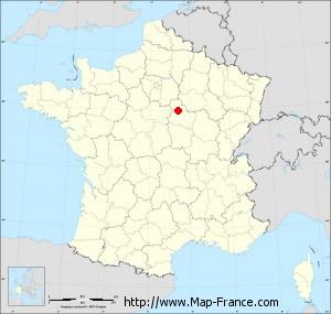 Small administrative base map of Joigny