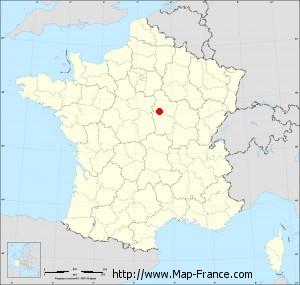 Small administrative base map of Sougères-en-Puisaye