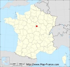 Small administrative base map of Treigny