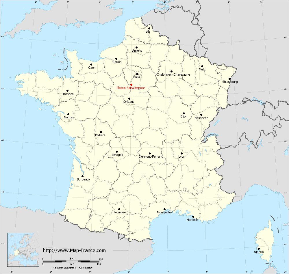 Carte administrative of Plessis-Saint-Benoist
