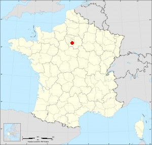 Small administrative base map of Vert-le-Grand